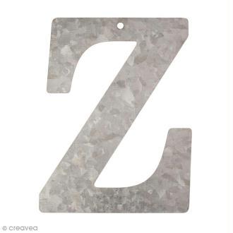 Lettre en métal galvanisé 12 cm - Z