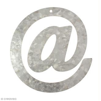 Lettre en métal galvanisé 12 cm - @