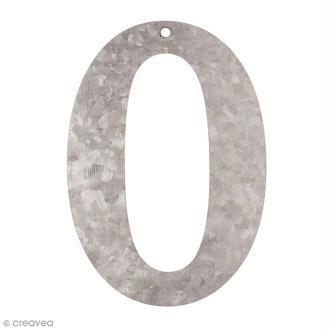 Chiffre en métal galvanisé 12 cm - 0