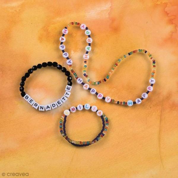Perles Alphabet coloré rondes 5 mm - 200 pcs environ - Photo n°2