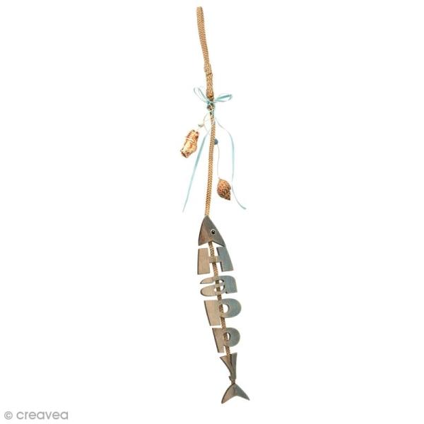 Squelette de poisson Happy - 26 x 30 cm - Photo n°1