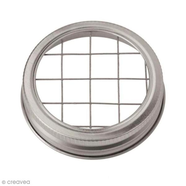 Couvercle pour Mason Jar - Grille - 7 cm - Photo n°1