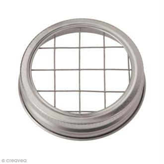 Couvercle pour Mason Jar - Grille - 7 cm