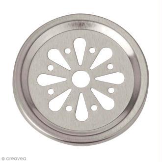 Insert saupoudreuse 6,8 cm pour Mason Jar - 2 pcs