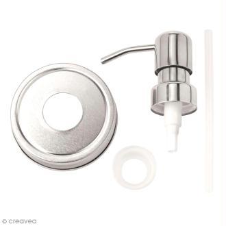 Couvercle pour Mason Jar - Distributeur de savon - 7 cm