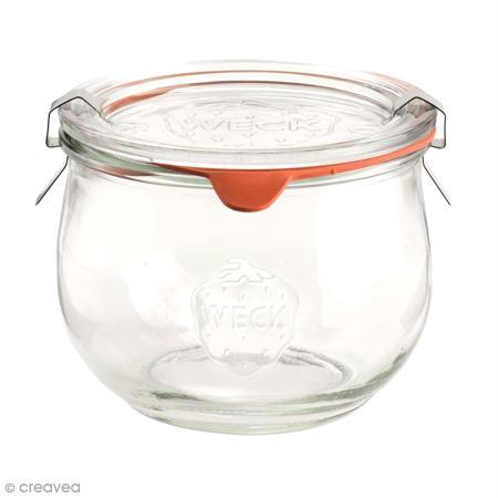 bocal en verre tulipe 580 ml avec couvercle ustensile cuisine creavea. Black Bedroom Furniture Sets. Home Design Ideas