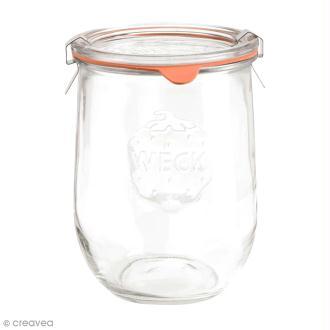 Bocal en verre Tulipe 1062 ml avec couvercle