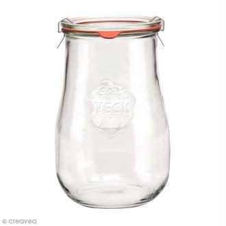 Bocal en verre Tulipe 1750 ml avec couvercle