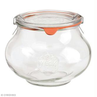 Bocal en verre Rond 1062 ml avec couvercle