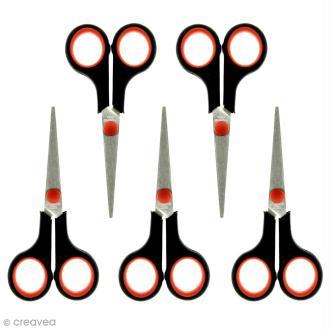 Lot de 5 ciseaux pour loisirs créatifs multifonction - 14 cm - 5 pcs