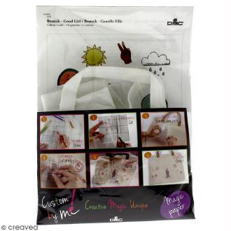 Kit DMC broderie Magic Paper - Tote bag