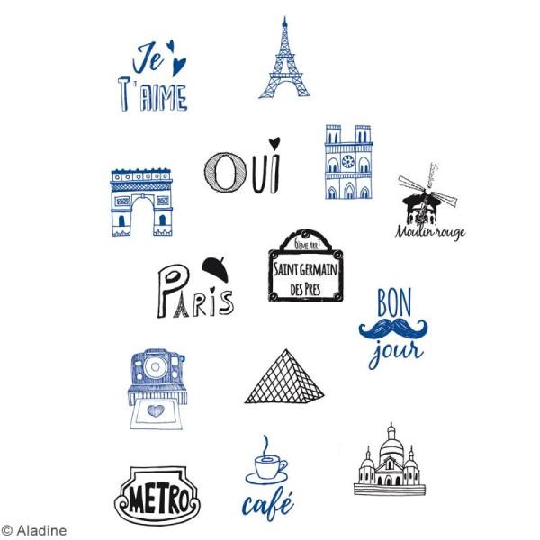 Kit Stamps - Paris - 14 tampons et 1 encreur - Photo n°2