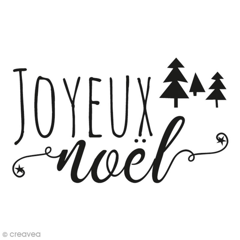 Tampon aladine joyeux no l 4 x 6 cm tampon bois - Joyeux noel noir et blanc ...