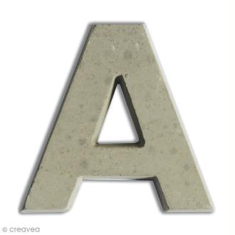 Lettre béton A - 5 cm