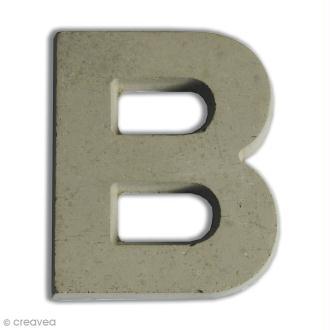 Lettre béton B - 5 cm