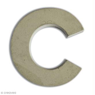 Lettre béton C - 5 cm