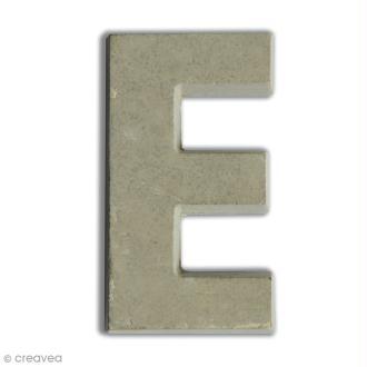 Lettre béton E - 5 cm