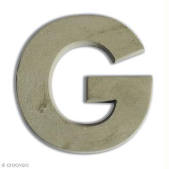 Lettre béton G - 5 cm
