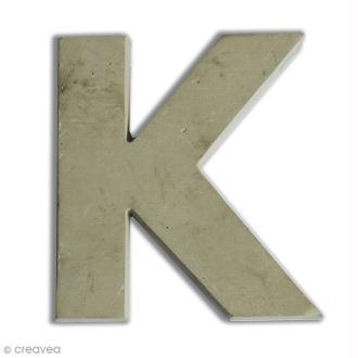 Lettre béton K - 5 cm