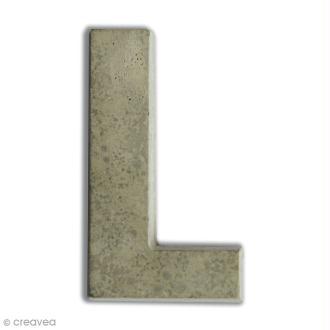 Lettre béton L - 5 cm