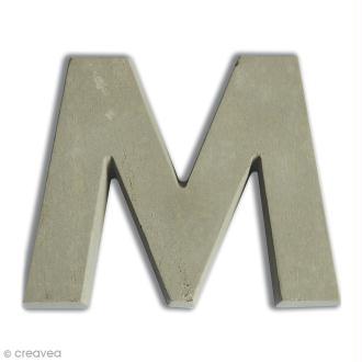 Lettre béton M - 5 cm