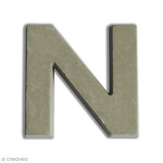 Lettre béton N - 5 cm