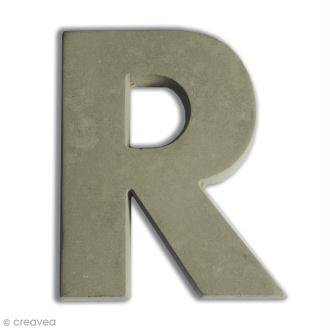 Lettre béton R - 5 cm