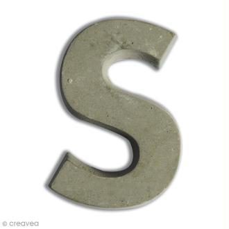 Lettre béton S - 5 cm