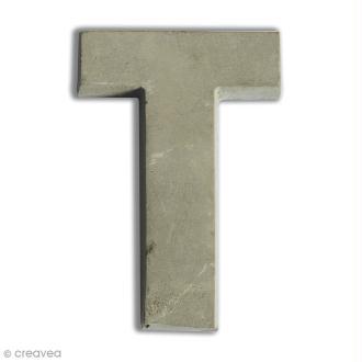 Lettre béton T - 5 cm