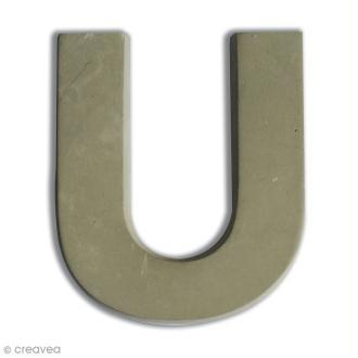 Lettre béton U - 5 cm