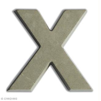 Lettre béton X - 5 cm