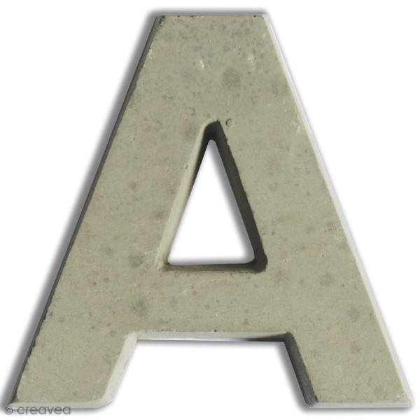 Lettre béton A - 7,5 cm - Photo n°1