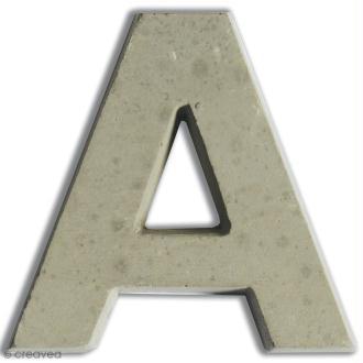 Lettre béton A - 7,5 cm