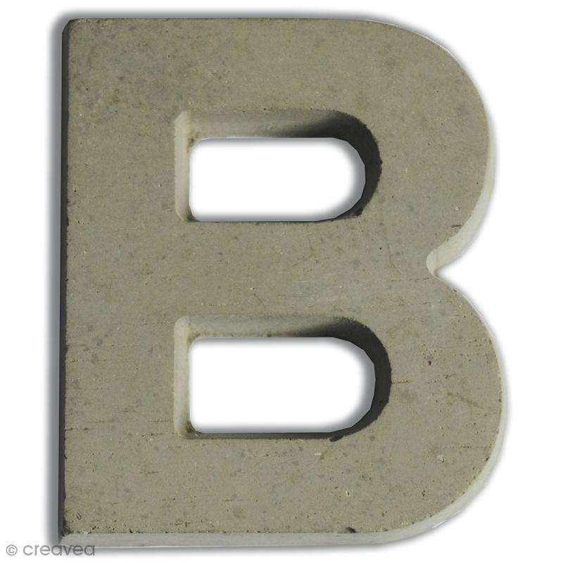 Lettre béton B - 7,5 cm - Photo n°1