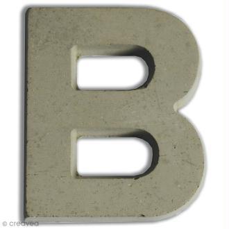 Lettre béton B - 7,5 cm