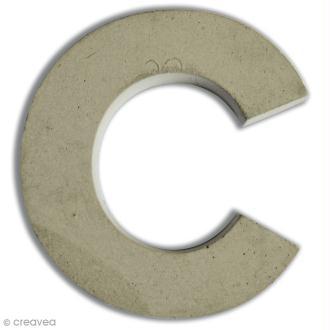 Lettre béton C - 7,5 cm
