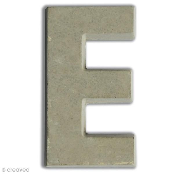 Lettre béton E - 7,5 cm - Photo n°1