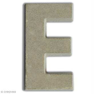 Lettre béton E - 7,5 cm