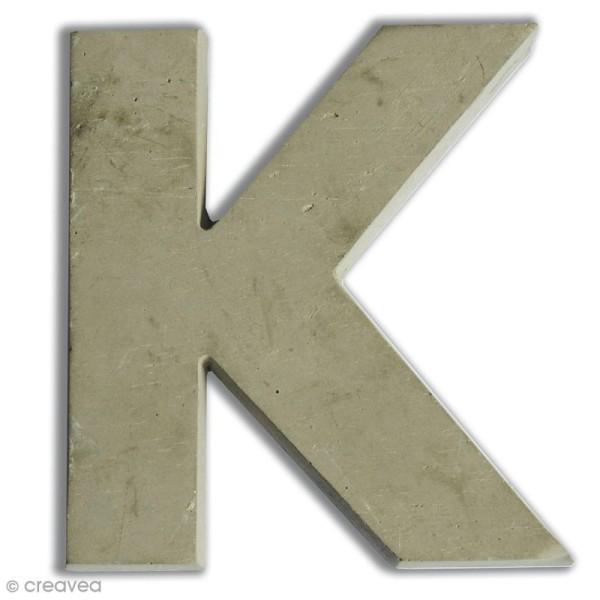 Lettre béton K - 7,5 cm - Photo n°1