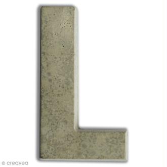 Lettre béton L - 7,5 cm