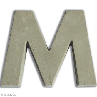 Lettre béton M - 7,5 cm