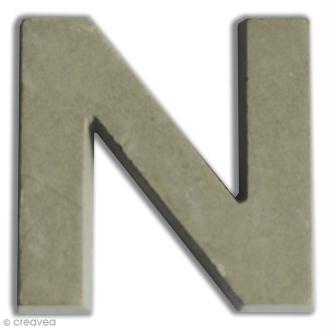 Lettre béton N - 7,5 cm