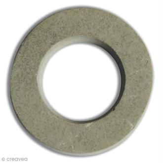 Lettre béton O - 7,5 x 7,8 cm
