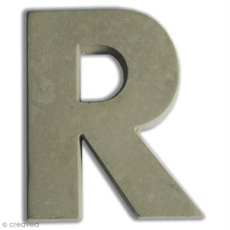 Lettre béton R - 7,5 cm
