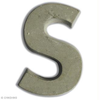 Lettre béton S - 7,5 cm