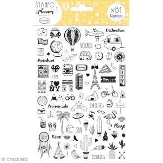 Kit Stampo - Carnet de voyage - 81 tampons