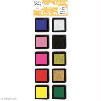Kit Encreurs à pigment Izink Aladine - 10 coloris - 3,5 x 3,5 cm