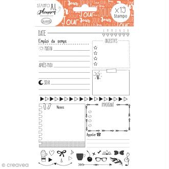 Kit Stampo - Planner Page Jour - 19 tampons