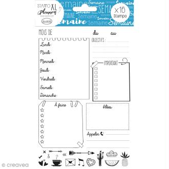Kit Stampo - Planner Page Semaine - 16 tampons