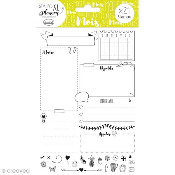 Kit Stampo - Planner Page Mois - 21 tampons - Photo n°1